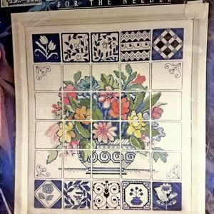 """Counted Cross Stitch Florentine Tiles 12"""" x 14"""""""